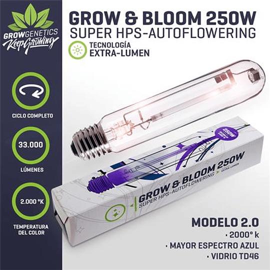 Ampolleta Grow y Bloom 250w Grow Genetics