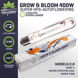 Ampolleta Grow y Bloom 400w Grow Genetics