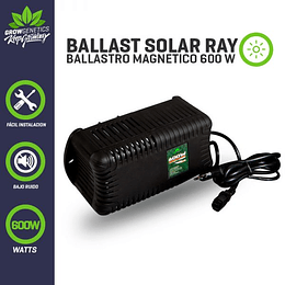 Ballast Solar Ray 600w Plug And Play   Grow Genetics
