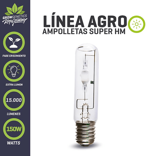 Ampolleta Haluro Grow Light 150w extra-lumen