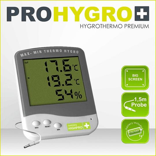 Termohigrometro Premium con sonda  GARDEN HIGH PRO