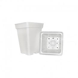 maceta cuadrada blanca 5,8 L   18x18x25,5