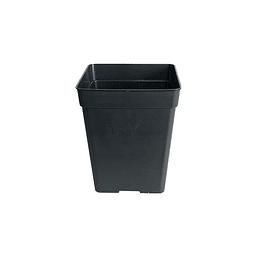 Maceta cuadrada  negra 5.8 Litros