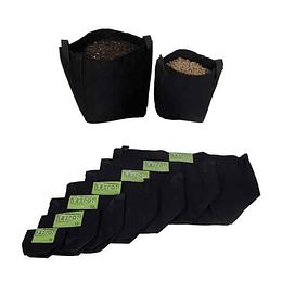 Maceta Geo Textil Negra 1 Litro Texpot