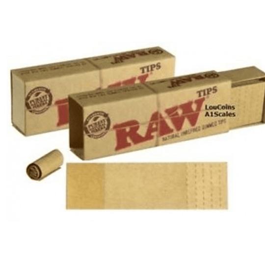 Tips Raw de carton prepicados y con goma