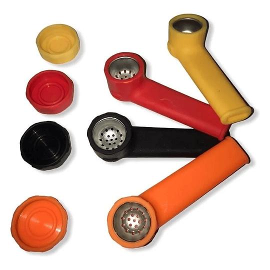 Pipa de silicona mediana colores