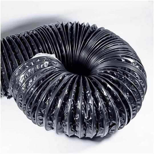 Ducto black reforzado (1 metro) 150mm 6 pulgadas