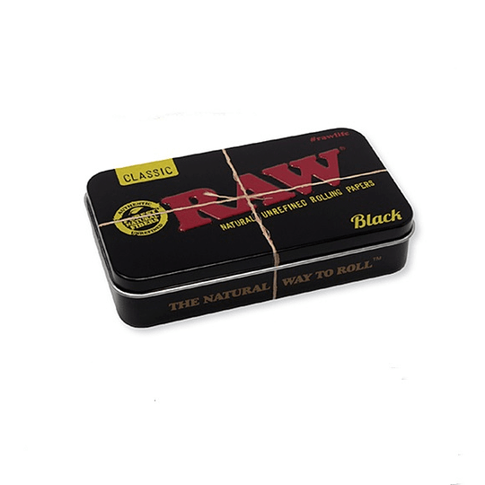 Cajita metalica Raw rectangular negra