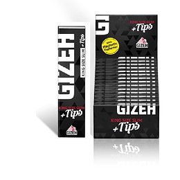 Papelillo Gizeh  negro King Size + tips