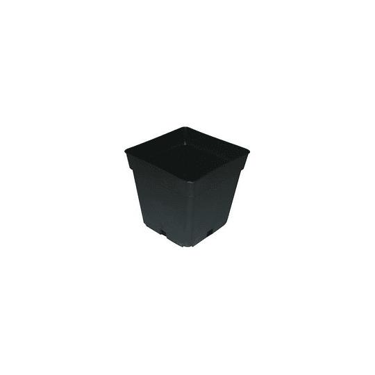 maceta cuadrada negra 0,4   9x9x10