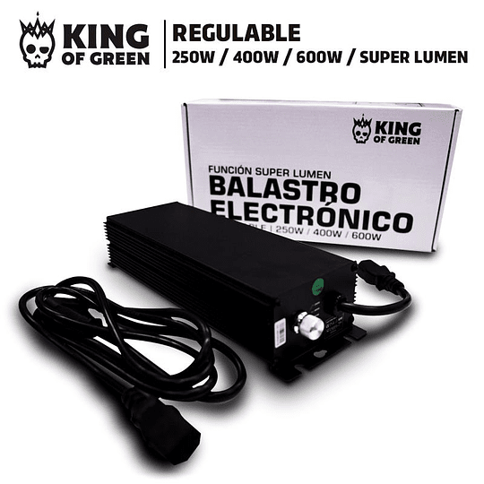 Balastro electronico regulable 600w King of Green
