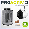 Filtro de olor ProActive 125mm x 600m3/h - Garden Highpro