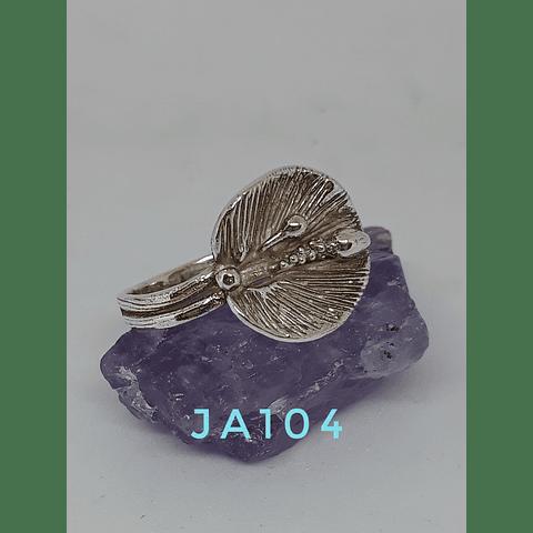 AG - plata 950 Flor Cala texturada.