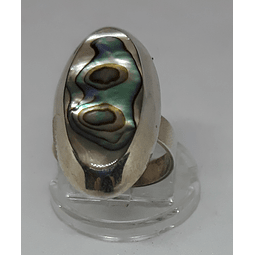 AG - plata 950 con abalonne ovalado