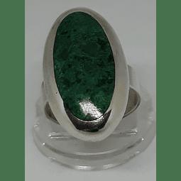 AG - plata 950 Anillo Ovalado malaquita