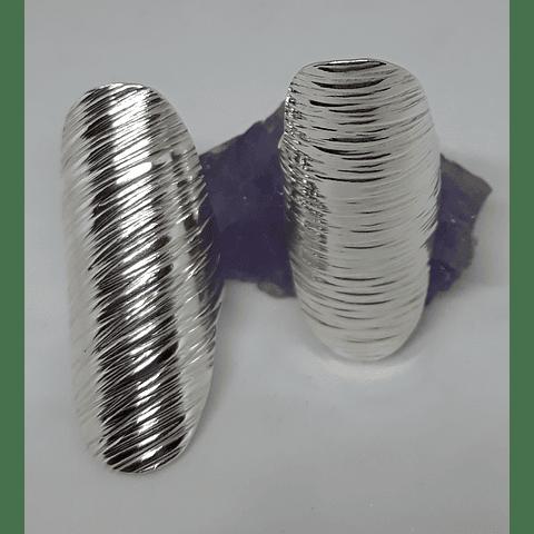 AG - plata 950 textura rayas ancho