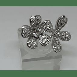 AG - plata 950 22 flores circones.