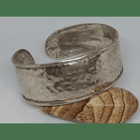 Brazalete plata martillada