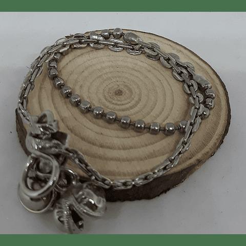 Tobillera cadenas y bolitas