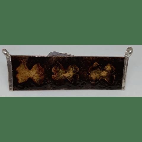 Colgante cobre grabado y esmaltado