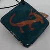 Colgante en cobre. Petroglifo grabado y esmaltado