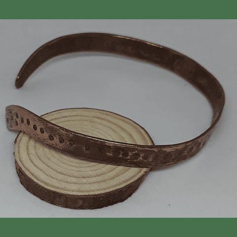 Brazalete cobre  martillado