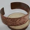 Brazalete cobre grabado