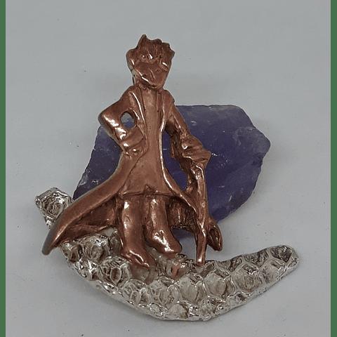 Principito macizo en cobre y plata