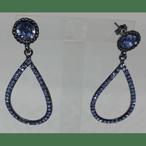 Aros cristales azules