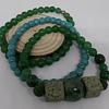 Pulseras piedras jade y turqueza