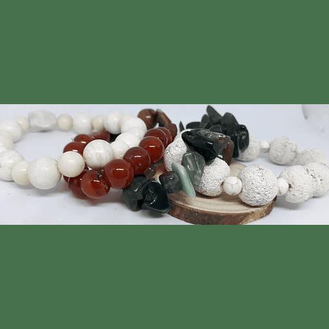 Pulseras piedras naturales