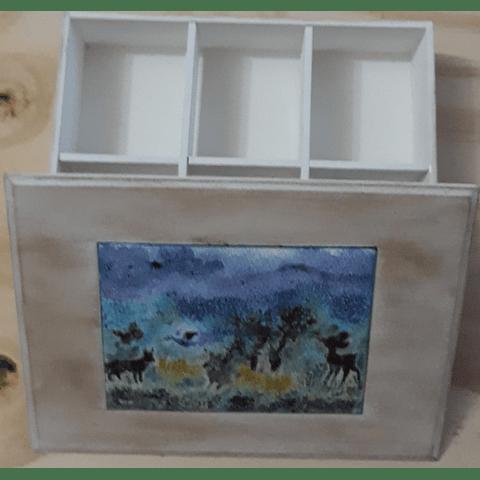 Caja de madera y cobre para el té