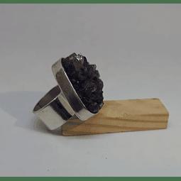 AG - plata 950 y piedra fina en bruto