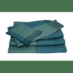 Guardanapos Azul/ Verde - Jacquard Francês