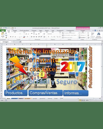 Plantilla de Inventarios al Instante con Excel Clasic