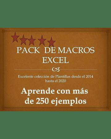 Pack de Plantillas  Avanzadas con Macros Ajustables Tipo Premium