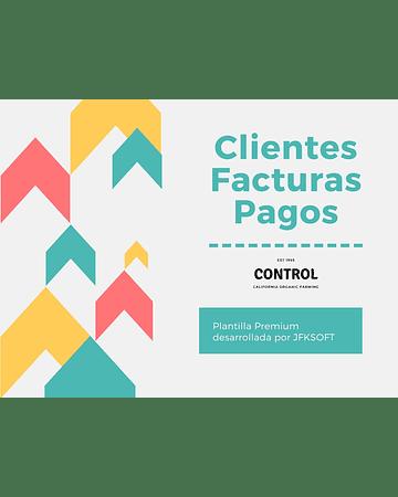 Plantilla Manejo de Clientes Facturas y Pagos