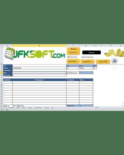 Plantilla Llenado de Facturas Preimpresas con Excel  * Gratis