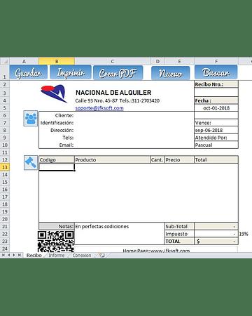 Sistema de Alquiler de Herramientas con Excel