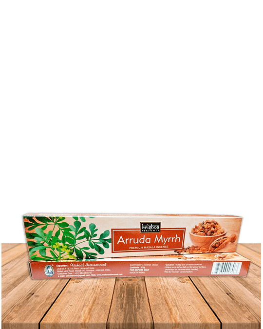 Incienso Krishna Premium Arruda Myrrh
