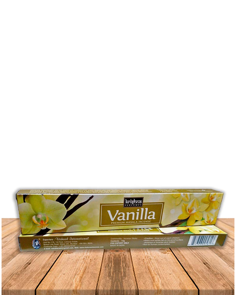 Incienso Krishna Premium Vainilla