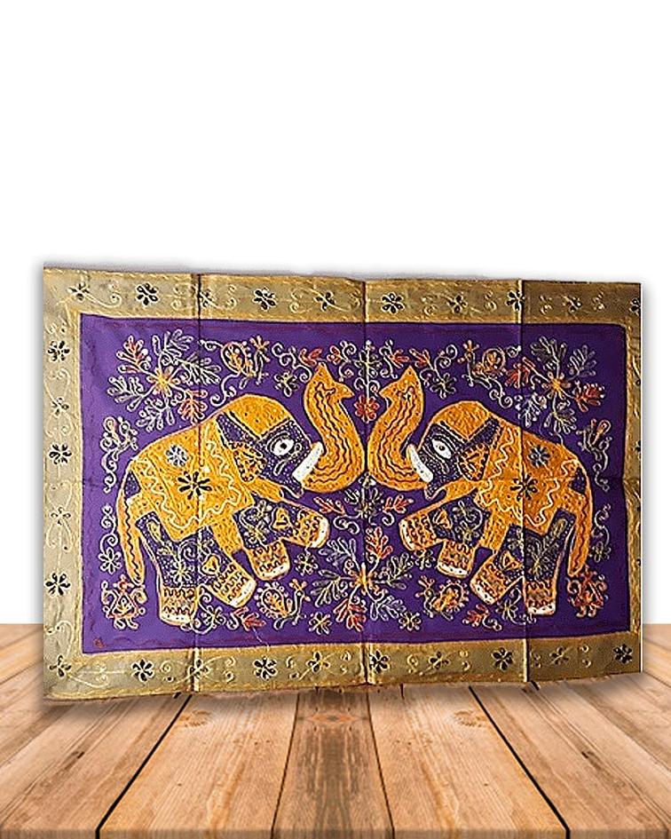 Tapiz Rectangular Con Diseño De Elefantes