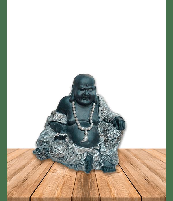 "Figura Buda con collar sentado en Poliresina 7"" JI19-040"