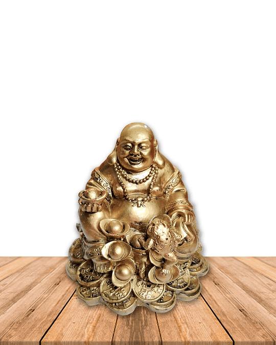 "Figura Bhuda Dorado  7""  JI19-168"