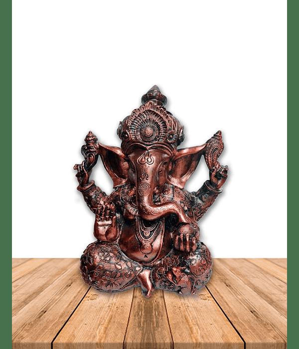 "Diosa Ganesh en Poliresina Mediana color Cobre 8"" JI19-038"