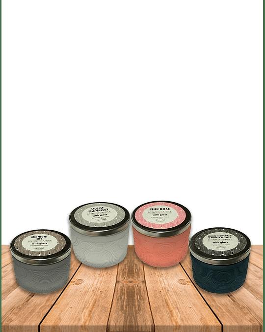 Vela Aromatica Surtida  Home Fragance Vidrio Tallado JI19-460