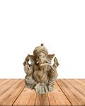 "Diosa Ganesh en Poliresina Mediana color Gris 9"" JI19-486"