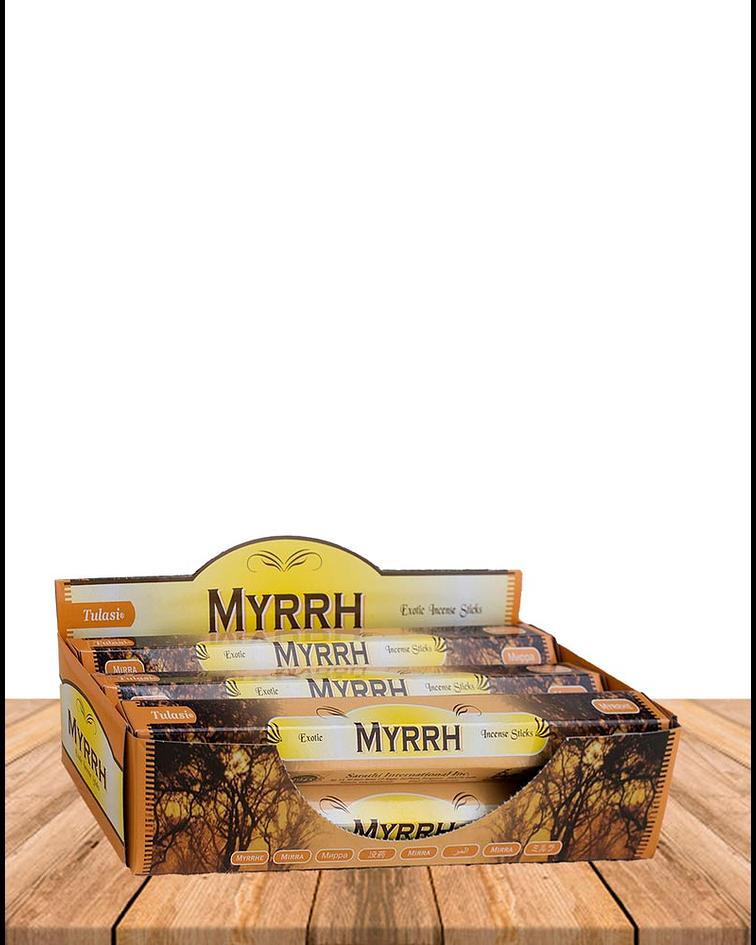 Incienso Hexagonal Tulasi Variedad Hierbas y Recina Pack de 6