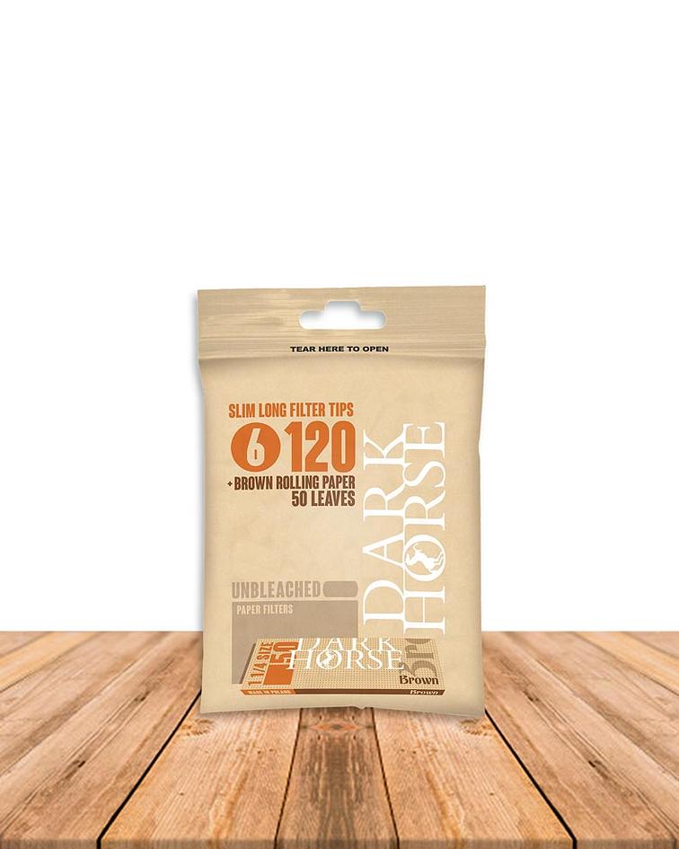 Filtro DH Slim Long Bio+ Papel Brown x 25