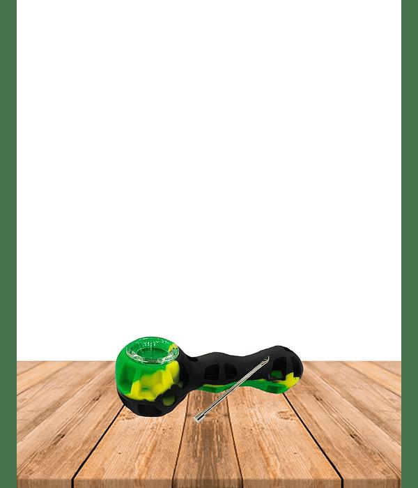 Pipa Silicona Con Vidrio